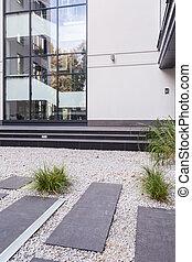 edificio, moderno, exterior