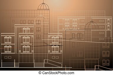 edificio moderno, fachada