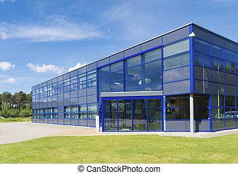 edificio, moderno, oficina