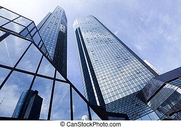 edificio, negocio moderno