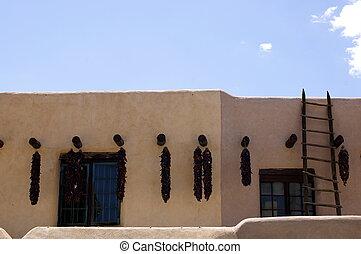 edificio, nuevo,  Adobe,  México