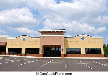 edificio, nuevo, comercial