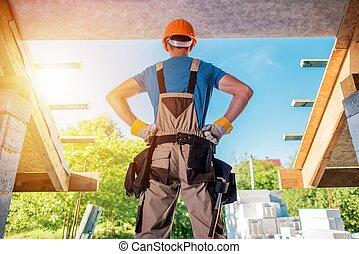 edificio, nuevo, proyecto, casa