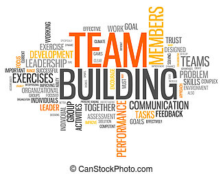 edificio, palabra, nube, equipo