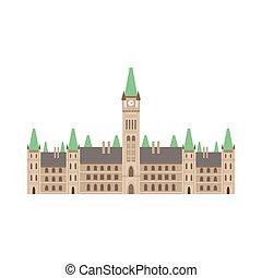 edificio, parlamento, canadiense, nacional, cultura, símbolo