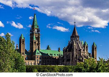 edificio, parlamento, ottawa