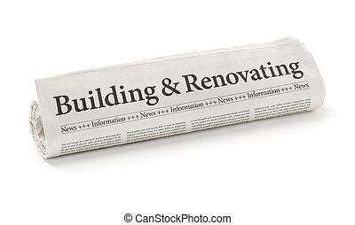 edificio, periódico rodado, renovadora, titular