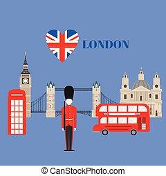 edificio, plano, grande, unido, ciudad, viaje, england.,...