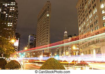 edificio plano hierro, ciudad nueva york