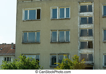 edificio, precast, elementos, concreto
