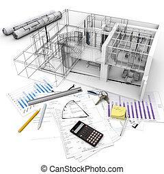 edificio, proyecto, proceso