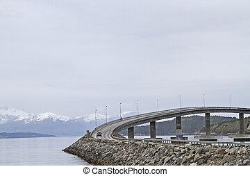 edificio, puente