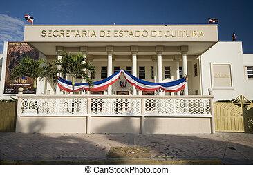 edificio, república, dominicano, gobierno