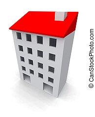 edificio, residencial