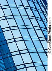 edificio, resumen, moderno, detalle