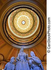 edificio, sacramento, california, capitolio, rotonda