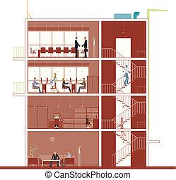 edificio, sección