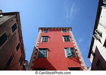 edificio, sibenik, antiguo
