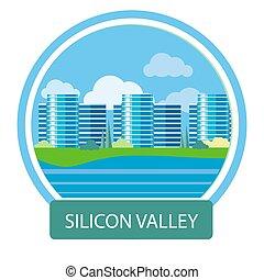 edificio, silicon valley, oficina