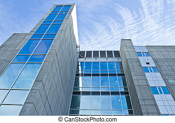 edificio, tiro del ángulo, oficina