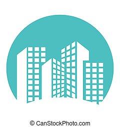 edificio, torre, apartamento