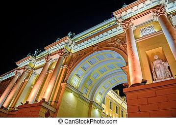 edificio, tribunal, s., constitutional, petersburg, arco