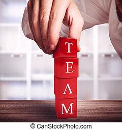 edificio, un, equipo