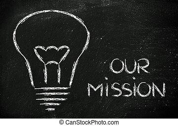 edificio, un, marca, compañía, misión, y, empresa / negocio,...