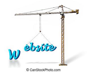 edificio, un, sitio web