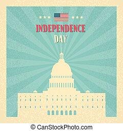 edificio, unido, capitolio, senado, casa, estados, américa,...