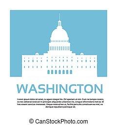 edificio, unido, capitolio, senado, casa, washington,...