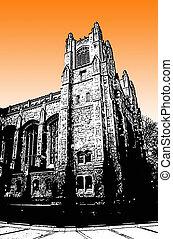 edificio, universidad