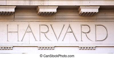 edificio, universidad, harvard, cartas
