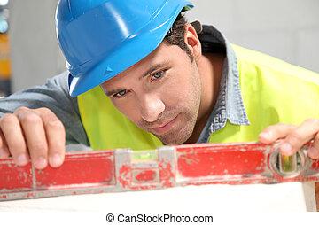 edificio, utilizar, trabajador, sitio, nivel