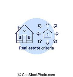 edificio, verdadero, adición, extensión, concepto, casa, ...