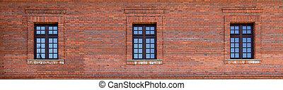 edificio, windows, fachada