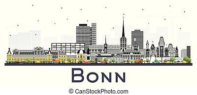 edificios, bonn, aislado, alemania, color de la ciudad, ...