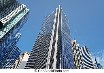 edificios de oficinas, en, makati, manila, -, filipinas
