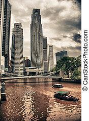edificios, de, singapur