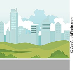 edificios, escena urbana, calle