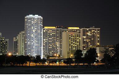 edificios, estados unidos de américa, miami, florida,...
