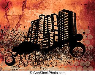 edificios, grunge