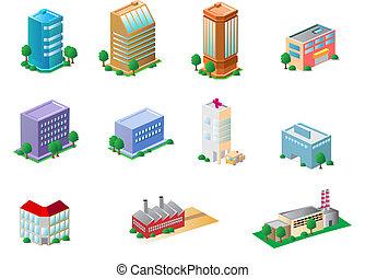 edificios, iconos