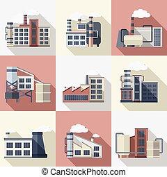 edificios,  industrial, Conjunto