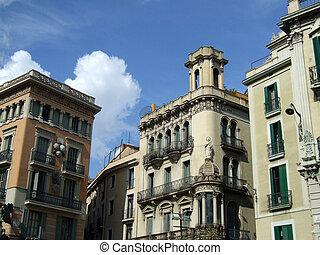 edificios, notable, barcelona