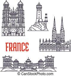 edificios, sightseeings, histórico, francia