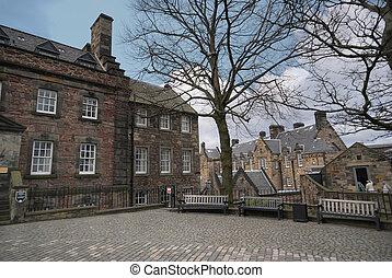 edimbourg, bâtiments, château, moyen-âge