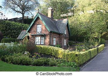 edimbourg, ecosse, vieux, royaume-uni, maison