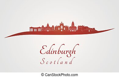 edimbourg, horizon, rouges