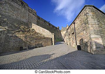 edimbourg, intérieur, château
